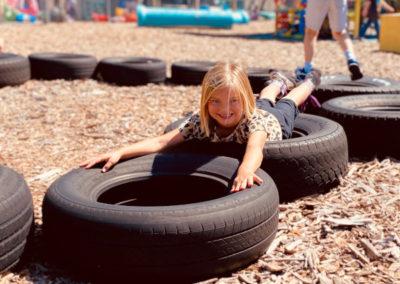 Girl on Tire