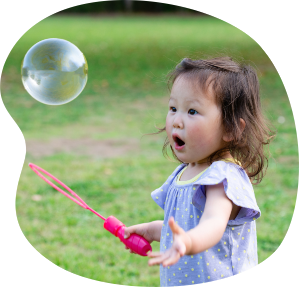 Girl with Big Bubble