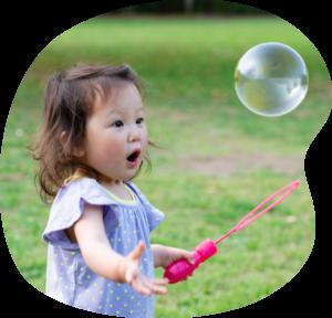 Girl with Big Bubble