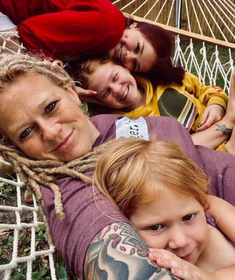 Rachael with Kids