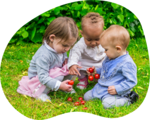 Three Toddlers On The Grass