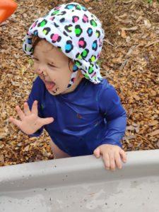 Girl at slide