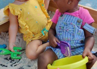 Girls in sandbox